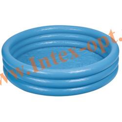 INTEX 59416 Надувной детский бассейн Кристалл Crystal Blue Pool 114х25 см(от 2 лет)
