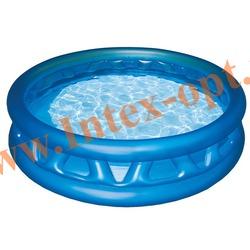 INTEX 58431 Надувной детский бассейн Soft Side Pool 188х46 см(от 3 лет)