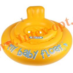 INTEX 56585 Надувной круг с трусиками и спинкой My Baby Float Ø 70 см(от 6 до 12 месяцев)без насоса
