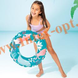 INTEX 59242 Круг надувной для плавания Transparent Rings Ø 61 см(от 6 до 10 лет)