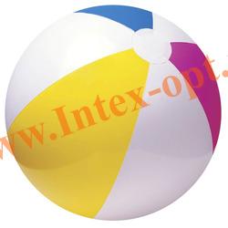 INTEX 59030 Надувной мяч Glossy Panel Ball Ø 61 см (от 3 лет)без насоса