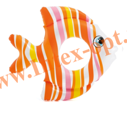 INTEX 59219 Круг надувной для плавания Тропическая рыбка Tropical Fish Rings 94х80 см(от 3 до 6 лет)без насоса