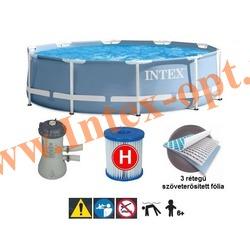 INTEX 26702 Бассейн каркасный круглый 305х76 см (с фильтр-насосом 220В)
