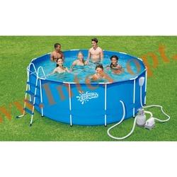 Summer Escapes Бассейн на опорах 488х132 см (песчаный фильтр-насос 5,1 м3/ч 220В, лестница, настил, тент, набор для чистки DELUXE, скиммер)