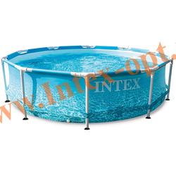 "INTEX 28206 Каркасный бассейн Metal Frame ""Beachside"" 305х76 см (без фильтр-насоса)"
