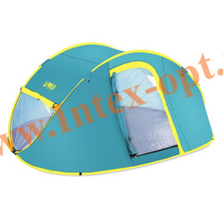 "BestWay 68087 Палатка 4-местная 210x240x100см ""Coolmount 4"" 1 слой, 190Т polyester PU, 2000мм, 120гр/м2 PE"